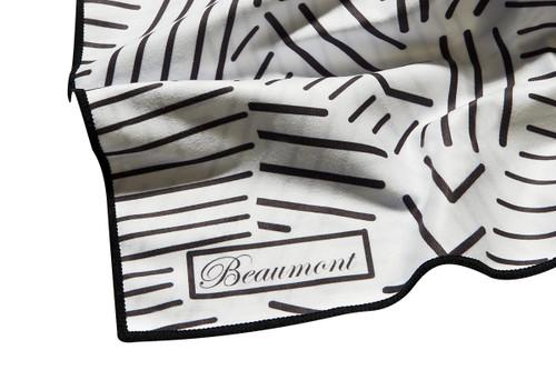 Beaumont Large Mircrofibre Polishing Cloth – Mostly White