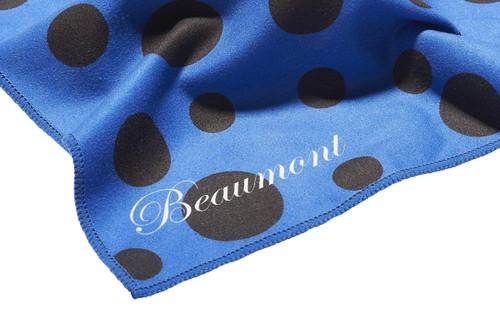 Beaumont Small Microfibre Polishing Cloth – Blue Polka Dot