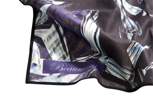 Beaumont Large Microfibre Polishing Cloth - Black Marble