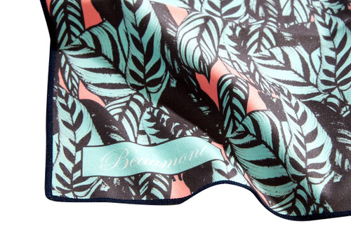 Beaumont Large Microfibre Polishing Cloth – Tropical Leaves