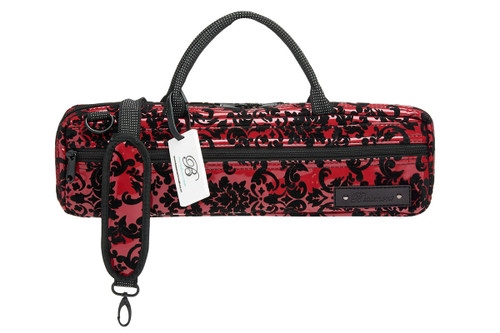 Beaumont C-Foot Flute Carry Case – Burgundy Lace