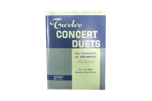 Twelve Concert Duets for Cornet or Trumpet - Cox