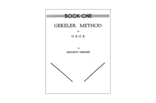 Gekeler Method For Oboe Book 1