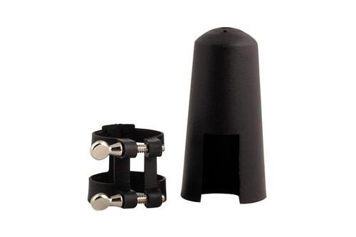Luyben Black Bb Clarinet Ligature and Mouthpiece Cap