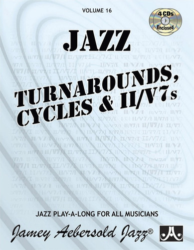 Jazz Turnarounds, Cycles & II/V7s - Jazz Play-A-Long Volume 16