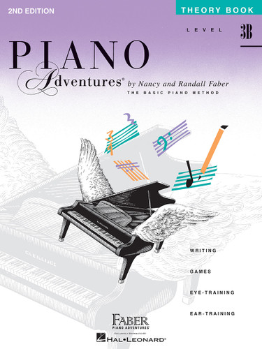 Piano Adventures - Theory Book Level 3B - 2nd Edition - Faber