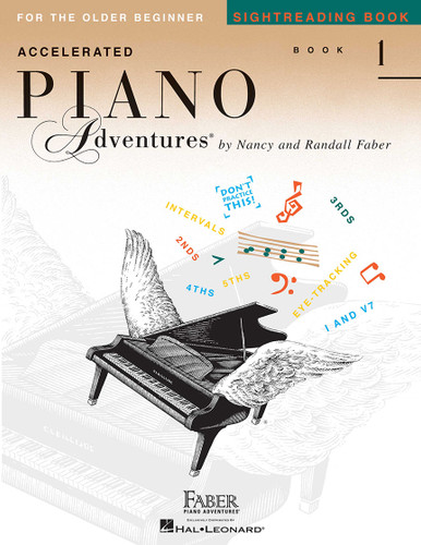 Accelerated Piano Adventures for the Older Beginner - Sightreading Book 1 - Faber