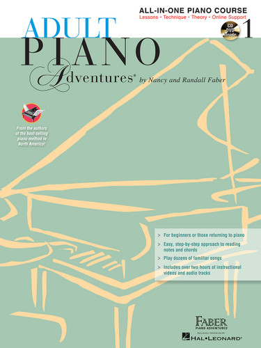 Adult Piano Adventures - All-in-One Piano Course 1 - with CD/DVD - Faber