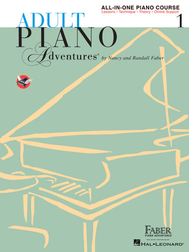 Adult Piano Adventures - All-in-One Piano Course 1 - Spiral Bound - Faber