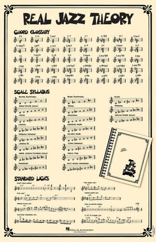 """Real Jazz Theory Poster - 22"""" x 34"""" featuring Real Book Notation"""