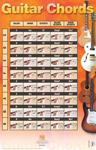 "Guitar Chord Poster - 22"" x 34"""