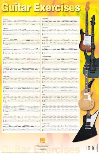 "Guitar Exercises Poster - 22"" x 34"""
