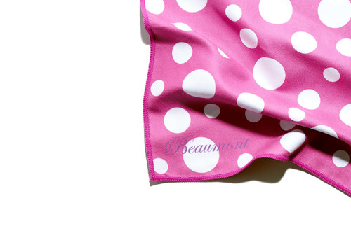BEAUMONT Large Microfibre Polishing Cloth -Pink Polka Dot BFC4030-PP (BFC4030-PP)