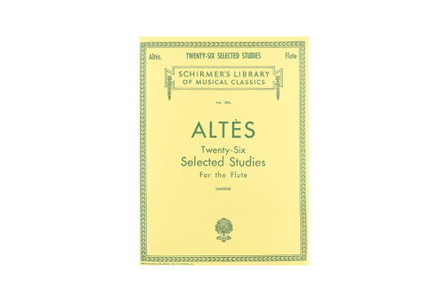 Twenty-Six Selected Studies for the Flute - Altes