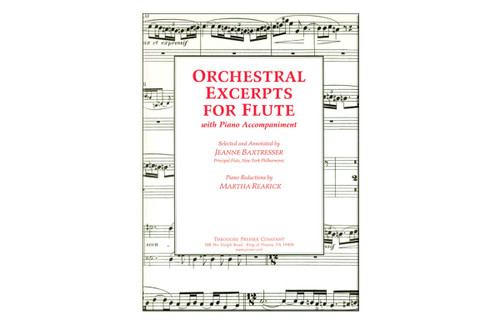 Orchestral Excerpts for Flute with Piano - Baxtresser
