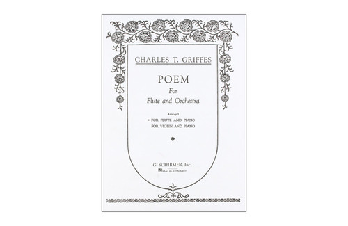 Poem for Flute and Orchestra, A.93 for Flute & Piano - Griffes