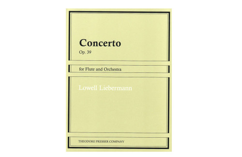 Concerto Op. 39 for Flute and Orchestra - Liebermann