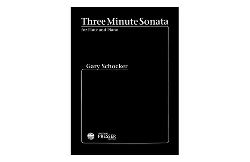 Three Minute Sonata for Flute & Piano - Schocker