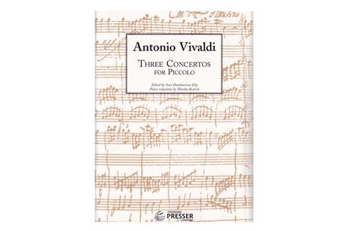 Three Concertos for Piccolo and Piano - Vivaldi
