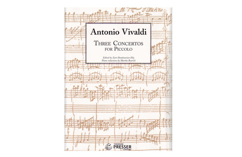 Three Concertos for Piccolo and Piano - Vivaldi