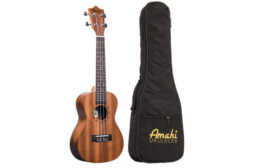 Amati Concert Ukulele - Mahogany w/ Deluxe Bag 210C