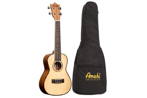 Amati Concert Ukulele - Spruce Top // Mahogany Back/Sides, w/Gigbag