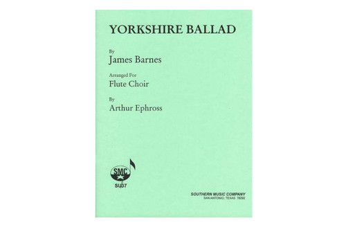 Yorkshire Ballad for Flute Choir - Barnes