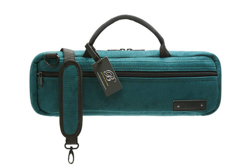 BEAUMONT C-Foot Flute Carry Case - Teal Corduroy BFBC-TC (BFBC-TC)