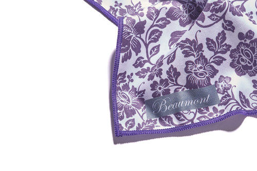 BEAUMONT Small Microfibre Polishing Cloth - Damson Lace BFC-DL (BFC-DL)