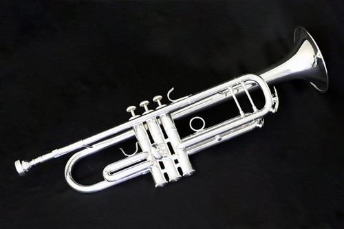 Full profile picture of the Lake City 615 Professional Trumpet in Silver Plating