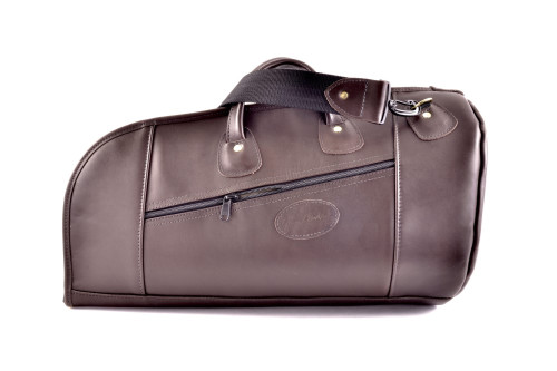 Glenn Cronkhite Genuine Leather Flugabone Gig Bag - Two-Tone