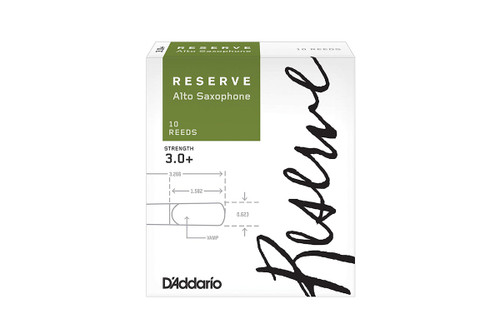 D'Addario Reserve Alto Saxophone Reeds Box of 10