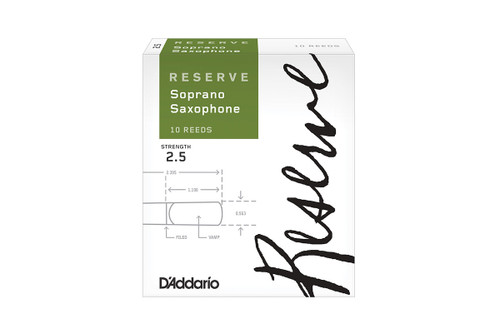 D'Addario Reserve Soprano Saxophone Reeds Box of 10