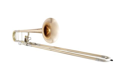 CG Conn Professional Trombone on White Background