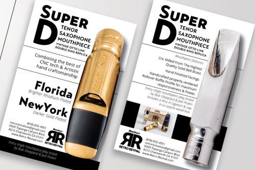 Retro Revival Super D Tenor Saxophone Mouthpiece