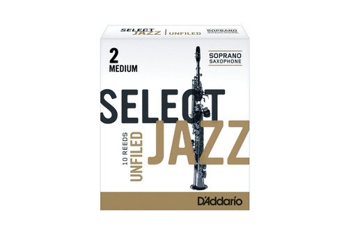 D'Addario Select Jazz Soprano Saxophone Reeds Unfiled Box of 10