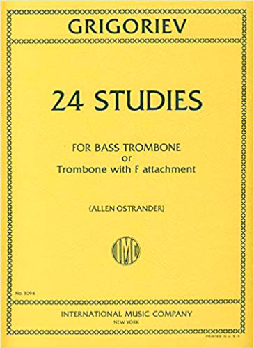 24 Studies for Bass Trombone or Trombone with F Attachment - Grigoriev