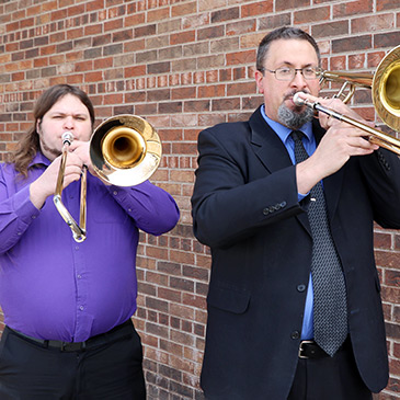 Trombone Shop specialists, Alex Heck and Keith Hilson