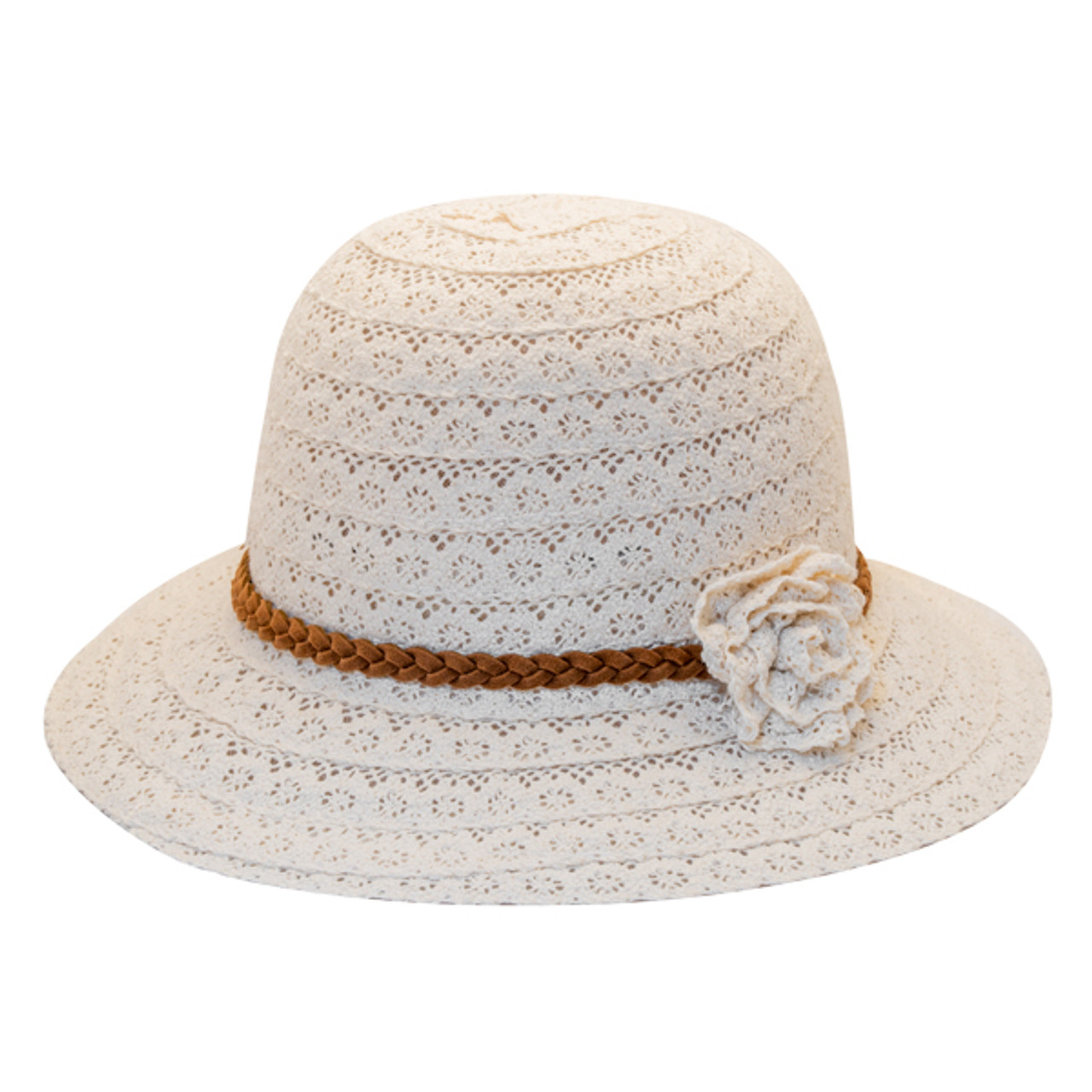 Jeanne Simmons Girls Cotton Lace Fedora
