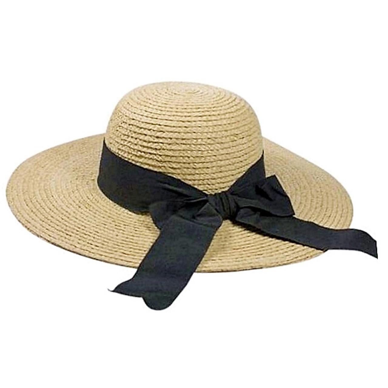 d7ee97f73 Boardwalk Style - Raffia Sun Hat with Ribbon Bow
