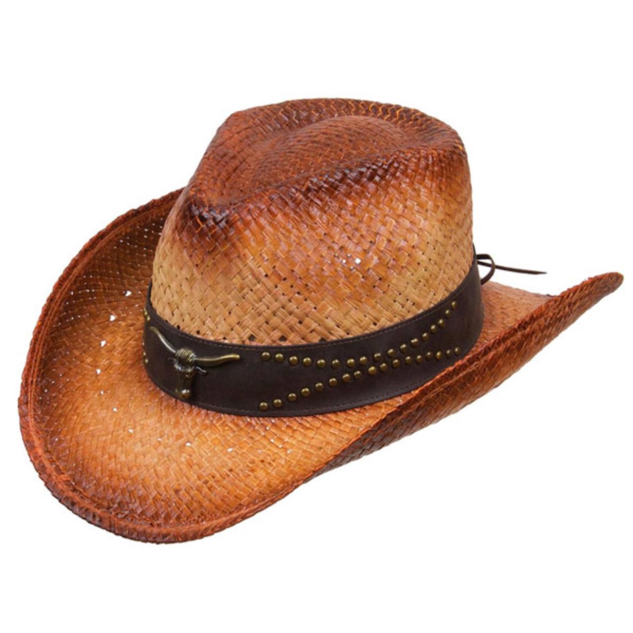 69663b10b Kenny K - Distressed Raffia Western Hat