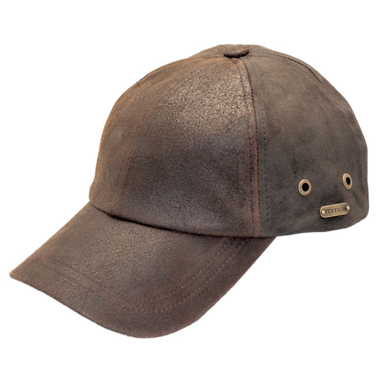 19d2b5ac Stetson | Distressed Leather Baseball Cap | Hats Unlimited