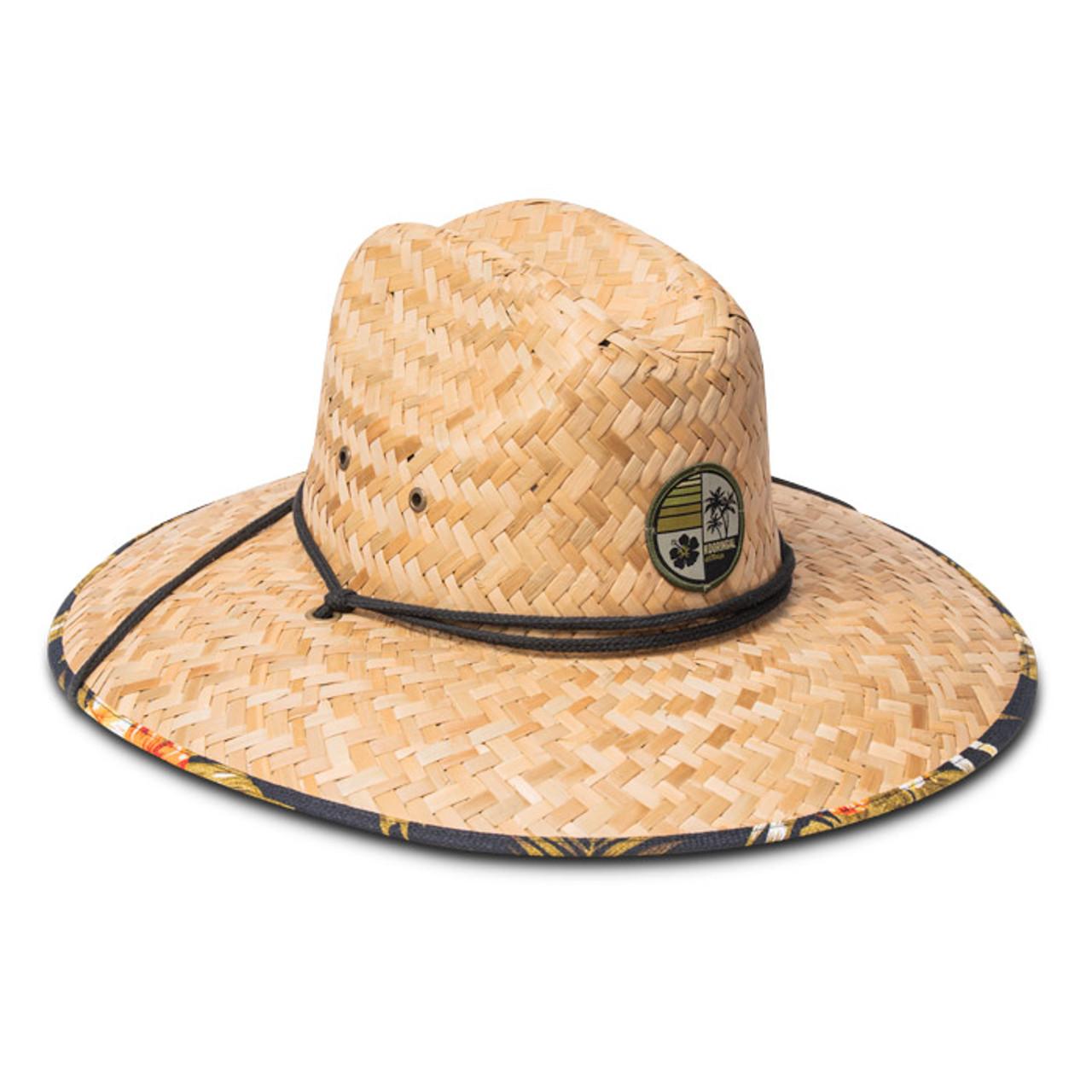 a26c084c2 Kooringal - Off-Shore Tropical Straw Lifeguard Hat