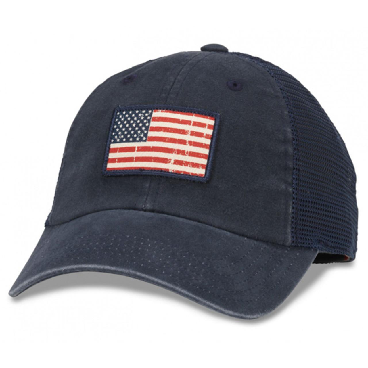 NEW BIG USA FLAG BALL CAP HAT BLACK