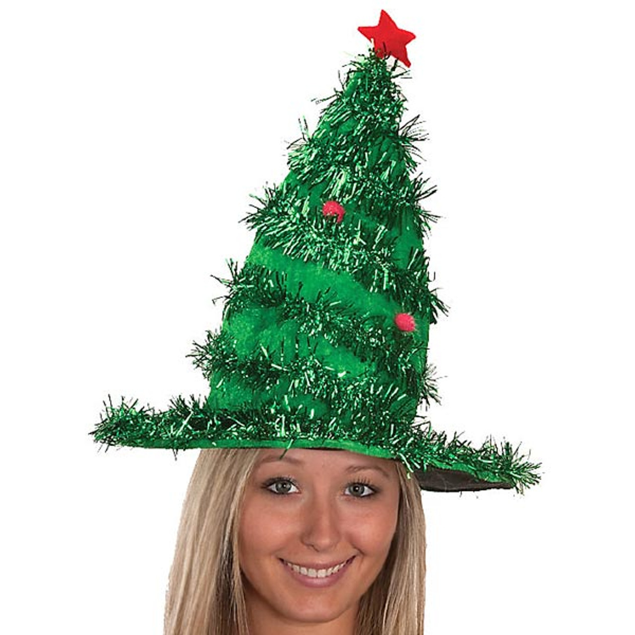 Tinsel Christmas Tree.Jacobson Tinsel Christmas Tree Hat