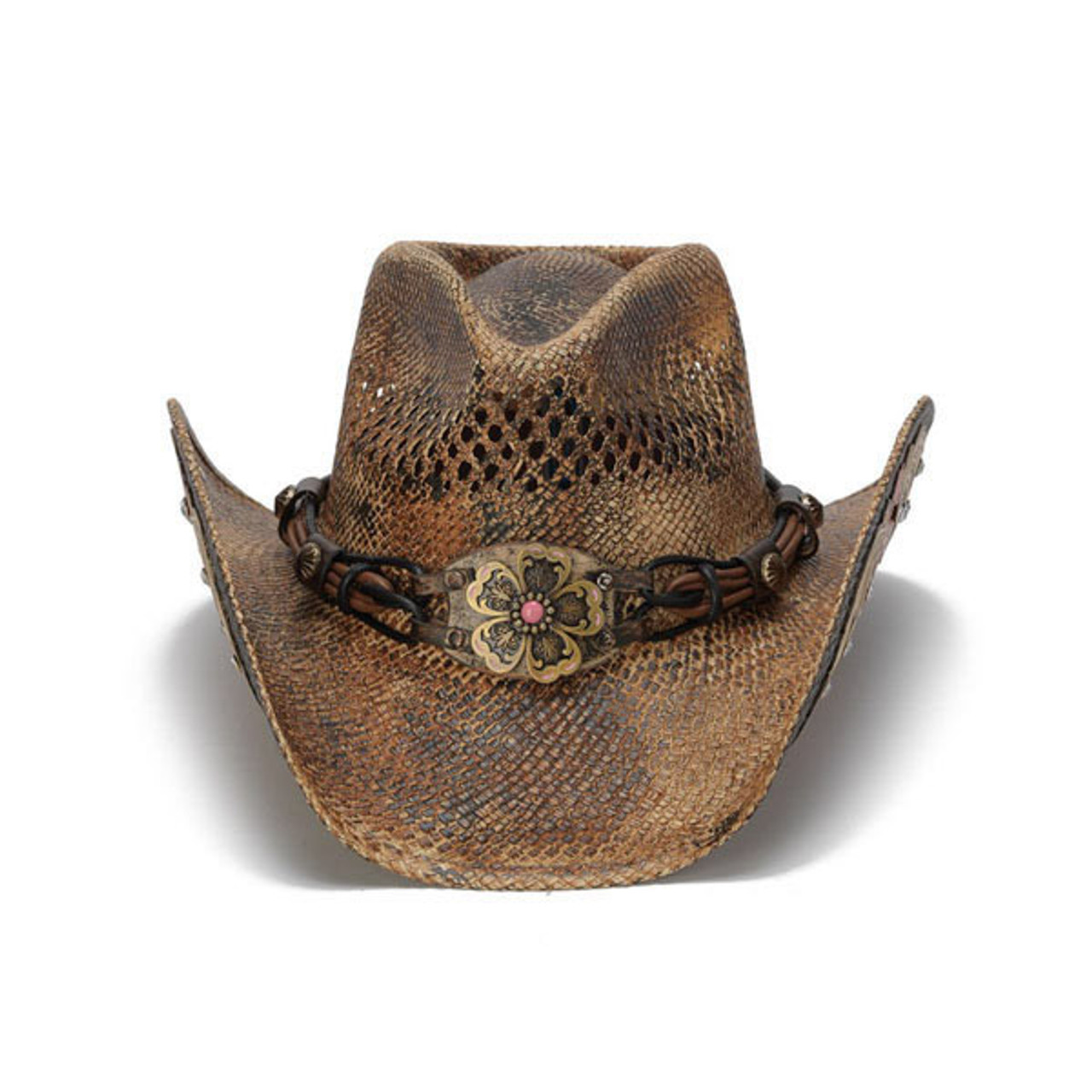 5b64e8059 Stampede Hats - Flowers and Rhinestone Cowboy Hat