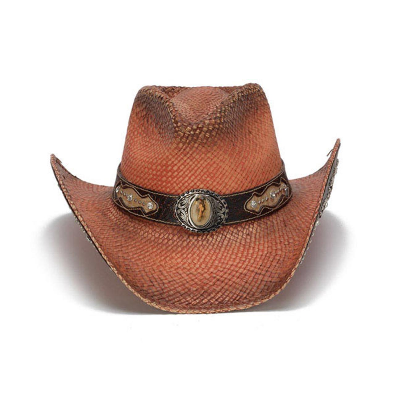 6c6aa11dc Stampede Hats -Orange Rhinestone Cowboy Hat