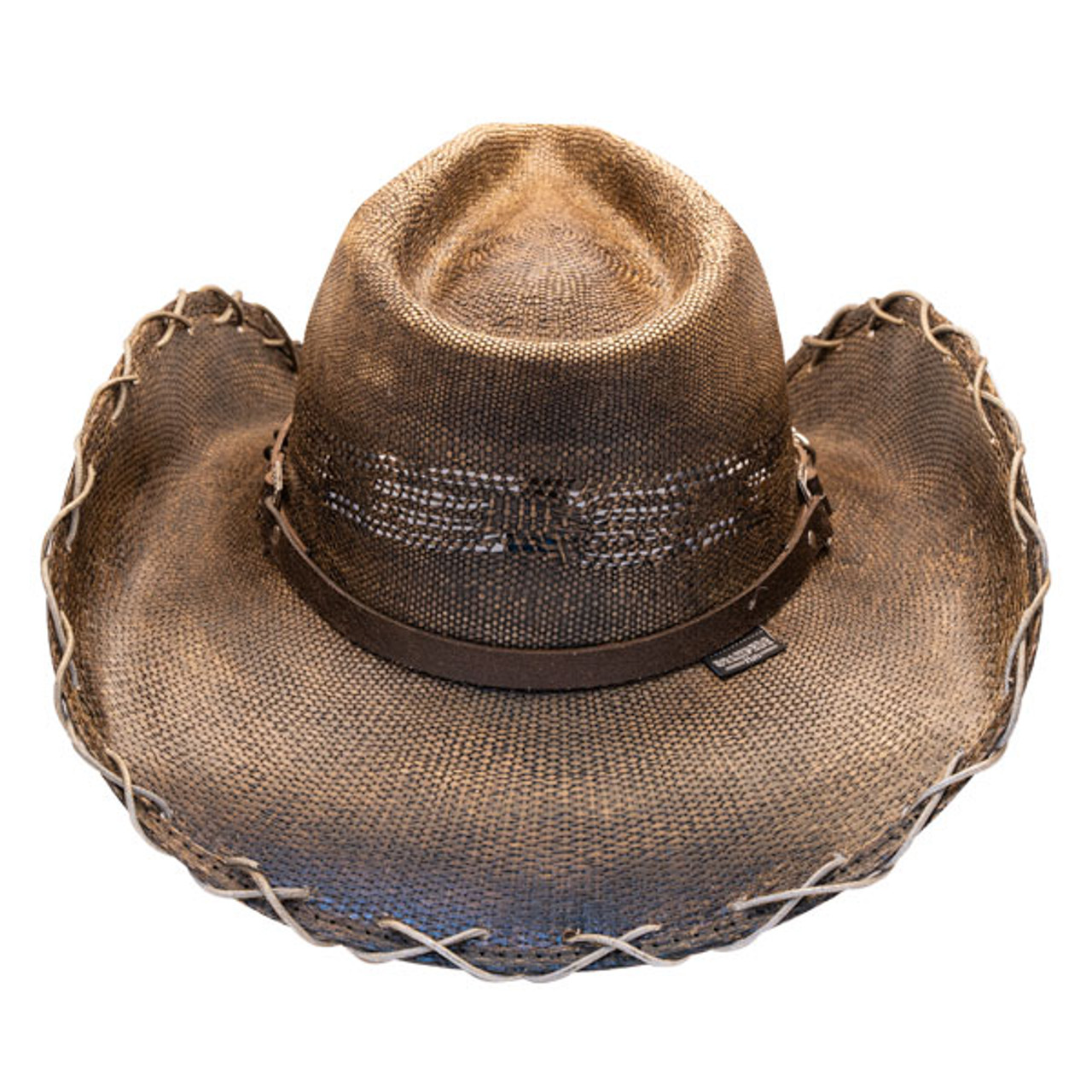 Stampede Hats - Black Stained Cowboy Hat w/ Chain Hat Band