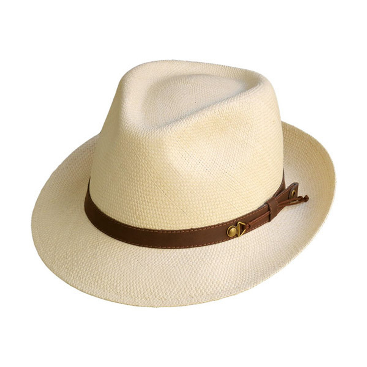 415031a8 Austral Hats   Beige Panama Hat with Brown Band   Hats Unlimited