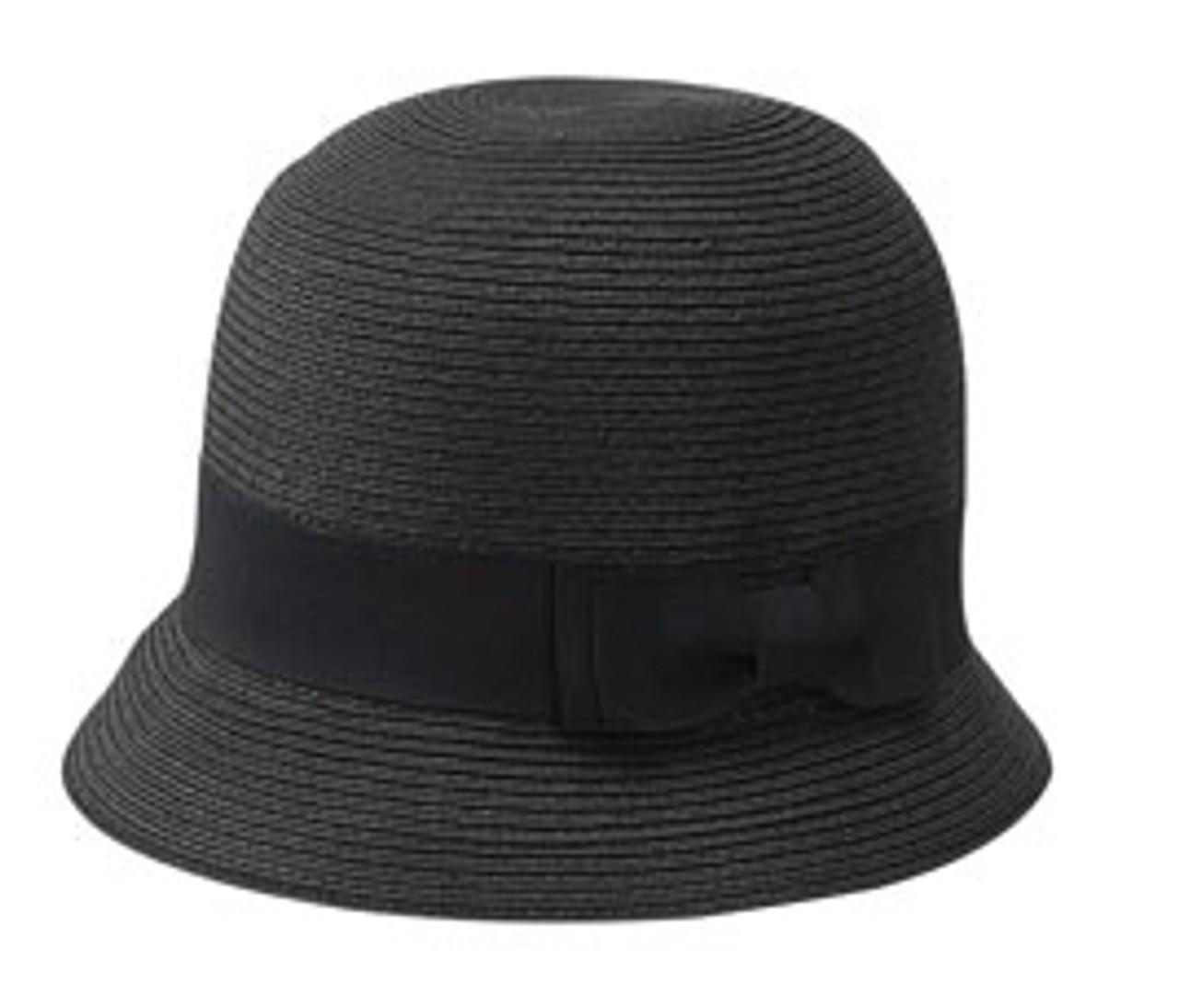 Cloche Hat Classic Wool Felt in Blue Gray tweed
